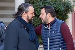 ALAN FABBRI E MATTEO SALVINI<br /> VISITA DI MATTEO SALVINI A BONDENO