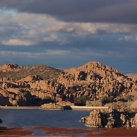 Evening Light graces the Dells by Watson Lake in Prescott, Arizona.