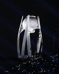 The Paralympic flame is extinguished during the Closing Ceremony for the PyeongChang 2018 Winter Paralympics in South Korea.