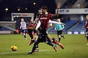 Shrewsbury Town forward Ivan Toney (09) battles for possesion with Millwall defender Mahlon Romeo (12) during the EFL Sky Bet League 1 match between Millwall and Shrewsbury Town at The Den, London, England on 10 December 2016. Photo by Matthew Redman.
