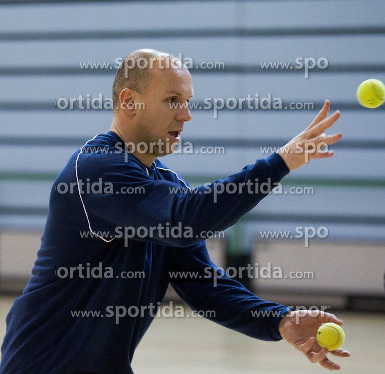 Gorazd Skof during the Training Camp before IHF Men's Handball World Championship Spain 2013 on January 9, 2013 in Zrece, Slovenia. (Photo By Vid Ponikvar / Sportida.com)