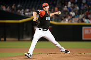 PHOENIX, AZ - AUGUST 27:  Patrick Corbin #46 of the Arizona Diamondbacks delivers a pitch in the first inning of the MLB game against the San Francisco Giants at Chase Field on August 27, 2017 in Phoenix, Arizona.  (Photo by Jennifer Stewart/Getty Images)