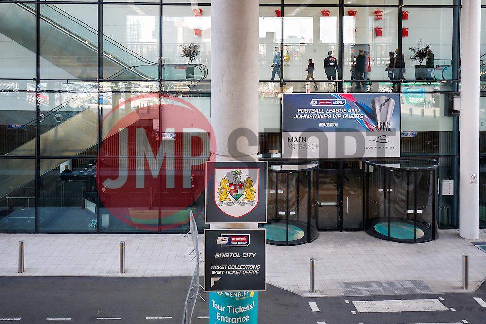 Bristol City branding in front of Club Wembley - Photo mandatory by-line: Rogan Thomson/JMP - 07966 386802 - 22/03/2015 - SPORT - FOOTBALL - London, England - Wembley Stadium - Bristol City v Walsall - Johnstone's Paint Trophy Final.