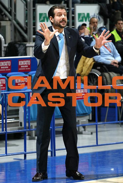 DESCRIZIONE : Bologna Uleb Cup 2007-08 Beghelli Fortitudo Bologna Telindus Oostende <br /> GIOCATORE : Andrea Mazzon <br /> SQUADRA : Beghelli Fortitudo Bologna <br /> EVENTO : Uleb 2007-2008 <br /> GARA : Beghelli Fortitudo Bologna Telindus Oostende <br /> DATA : 20/11/2007 <br /> CATEGORIA : Ritratto <br /> SPORT : Pallacanestro <br /> AUTORE : Agenzia Ciamillo-Castoria/L.Villani