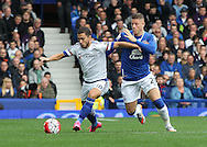 Ross Barkley of Everton and Eden Hazard of Chelsea in action during the Barclays Premier League match at Goodison Park, Liverpool.<br /> Picture by Michael Sedgwick/Focus Images Ltd +44 7900 363072<br /> 12/09/2015