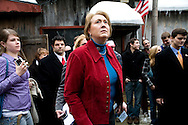 Former Arkansas governor Mike Huckabee's wife Janet campaigns for the Republican presidential nomination in Milford, N.H., on Monday, Jan. 7, 2008.