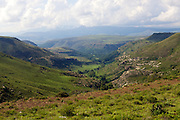 The mountains and valleys of Lesotho