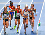 Elish McColgan (GBR) leads off at the start of the Women's 3000m Final during the IAAF World Indoor Championships at Arena Birmingham in Birmingham, United Kingdom on Thursday, Mar 1, 2018. (Steve Flynn/Image of Sport)