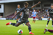 Khanya Leshabela of Leicester City (51) in action  during the Pre-Season Friendly match between Scunthorpe United and Leicester City at Glanford Park, Scunthorpe, England on 16 July 2019.