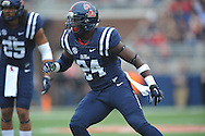 Mississippi Rebels linebacker Keith Lewis (24) vs. Louisiana-Lafayette at Vaught-Hemingway Stadium in Oxford, Miss. on Saturday, September 13, 2014. Ole Miss won 56-15 to improve to 3-0.