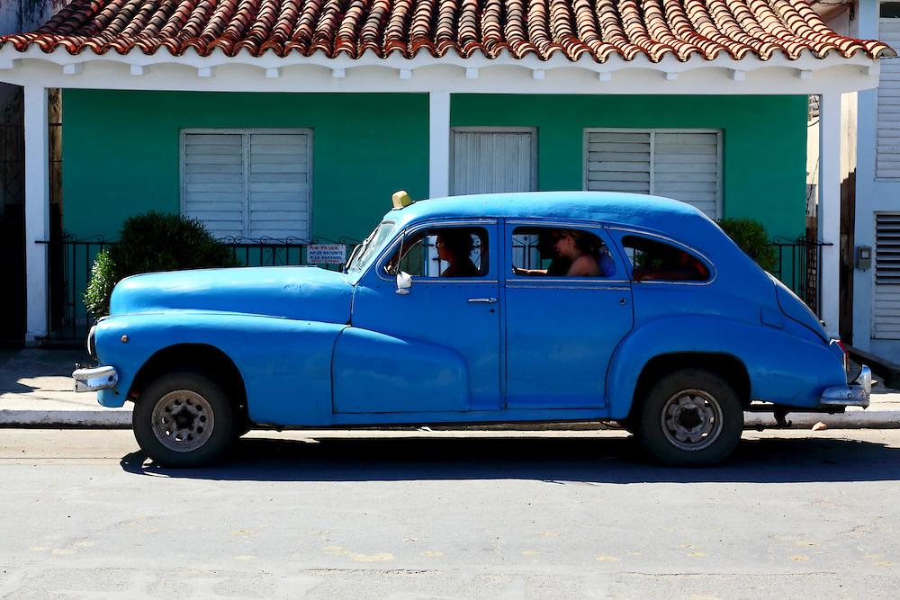 Old American car in San Luis, Pinar del Rio, Cuba.