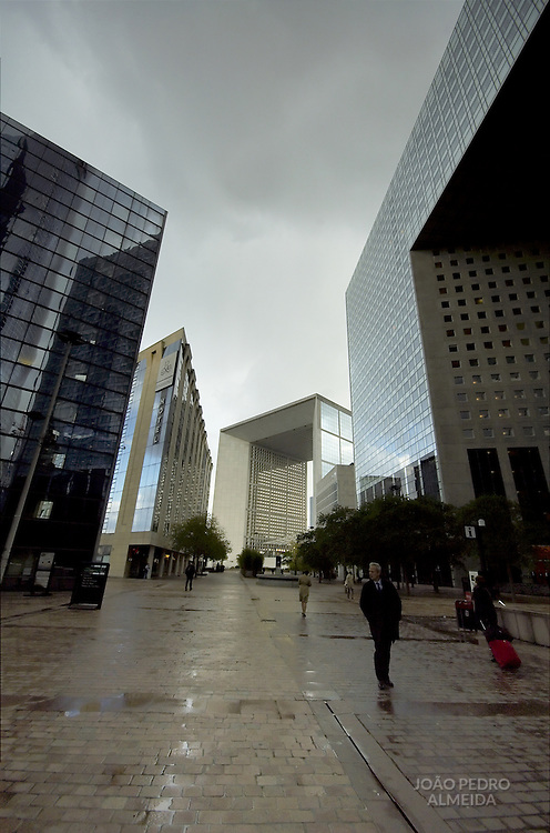 View of La Defense and the Grand Arch