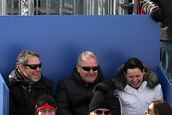 10.02.2013, Planai, Schladming, AUT, FIS Weltmeisterschaften Ski Alpin, Abfahrt, Damen, im Bild Marcel Koller, OeFB-Teamchef, Leo Windtner, OeFB-Praesident // Marcel Koller and Leo Windtner during womens Downhill during FIS Ski World Championships 2013 at the Planai Course, Schladming, Austria on 2013/02/10. EXPA Pictures © 2013, PhotoCredit: EXPA/ Martin Huber