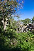 Derelict house in ruins in ancient village of Old Perithia - Palea Perithea, Northern Corfu, , Greece