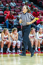 NORMAL, IL - November 20:  Referee Barb Smith during a college women's basketball game between the ISU Redbirds and the Huskies of Northern Illinois November 20 2019 at Redbird Arena in Normal, IL. (Photo by Alan Look)