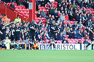 Charlton's Danny Haynes © celebrates after he scores the opening goal. NPower championship, Bristol city v Charlton Athletic at Ashton Gate stadium in Bristol on Sunday 11th November 2012.  pic by Andrew Orchard, Andrew Orchard sports photography,