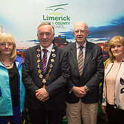 10.10. 2017.          <br /> Pictured at the Limerick Going for Gold 2017 finals in the Strand Hotel were, Mayor of the City and County of Limerick Cllr Stephen Keary with members of the Rathkeale Tidy Towns group, Noreen O'Flaherty, Peter Donovan and Nora Shiels.<br /> <br /> <br /> Limerick Going for Gold, which is sponsored by the JP McManus Charitable Foundation, has a total prize pool of over €75,000.  It is organised by Limerick City and County Council and supported by Limerick's Live 95FM, The Limerick Leader and The Limerick Chronicle, The Limerick Post, Parkway Shopping Centre, I Love Limerick and Southern Marketing Media & Design. Picture: Alan Place
