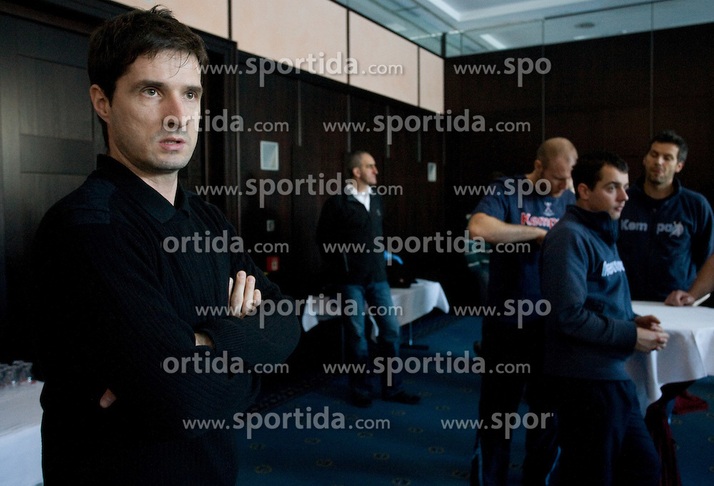 Director of Slovenian men National team Roman Pungartnik at meeting with press during the Men's Handball European Championship on January 23, 2009 in Hotel Grauerbar, Innsbruck, Austria. (Photo by Vid Ponikvar / Sportida) - on January 2010