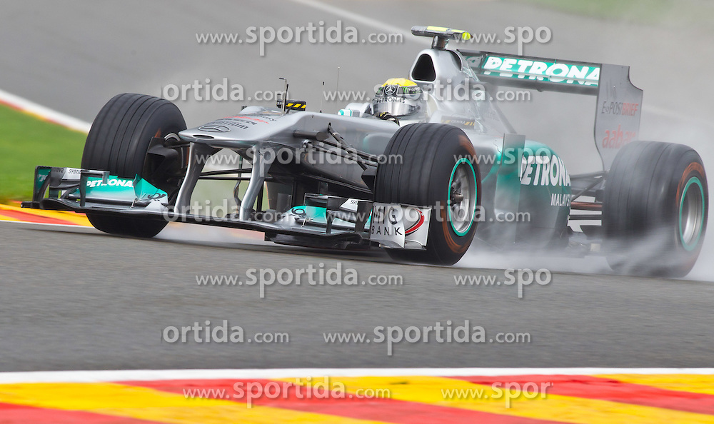 27.08.2011, Circuit de Spa, Francorchamps, BEL, F1, Grosser Preis von Belgien, 3 freies Training, im Bild  Nico Rosberg (GER), Mercedes GP Petronas F1 Team // during practice tree at Formula One Championships 2011 Belgian Grand Prix held at the Circuit de Spa, Francorchamps, Belgium, 27/8/2011, EXPA Pictures © 2011, PhotoCredit: EXPA/ J. Groder