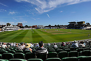 The Cooper Associates County Ground bathed in sunshine on a hot day during the Specsavers County Champ Div 1 match between Somerset County Cricket Club and Hampshire County Cricket Club at the Cooper Associates County Ground, Taunton, United Kingdom on 23 August 2016. Photo by Graham Hunt.