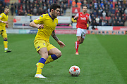 Alex Mowatt (10) of Leeds United during the Sky Bet Championship match between Rotherham United and Leeds United at the New York Stadium, Rotherham, England on 2 April 2016. Photo by Ian Lyall.