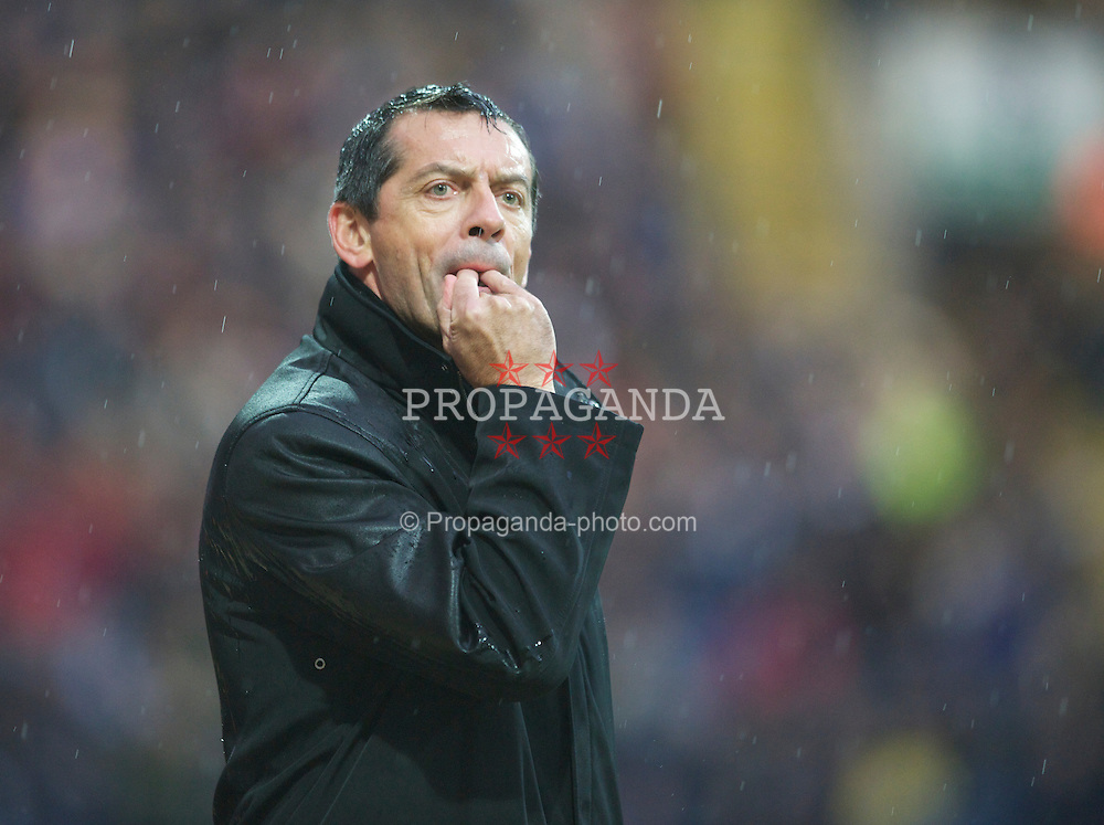 PRESTON, ENGLAND - Saturday, January 15, 2011: Preston North End manager Phil Brown during the Football League Championship match at Deepdale. (Photo by Chris Brunskill/Propaganda)