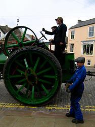 UK ENGLAND CUMBRIA ALSTON 31MAY06 - Steam engine built in 1908 rolls through Alston...jre/Photo by Jiri Rezac..© Jiri Rezac 2006..Contact: +44 (0) 7050 110 417.Mobile:  +44 (0) 7801 337 683.Office:  +44 (0) 20 8968 9635..Email:   jiri@jirirezac.com.Web:    www.jirirezac.com..© All images Jiri Rezac 2006 - All rights reserved.