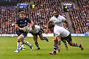 Peter Horne on the ball during the 2018 Autumn Test match between Scotland and Fiji at Murrayfield, Edinburgh, Scotland on 10 November 2018.