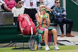 LONDON, ENGLAND - Monday, July 4, 2016:  Lucie Safarova (CZE) during the Ladies' Single 4th Round match on day eight of the Wimbledon Lawn Tennis Championships at the All England Lawn Tennis and Croquet Club. (Pic by Kirsten Holst/Propaganda)