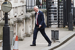 London, November 01 2017. Secretary of State for Exiting the European Union David Davis is seen in Downing street following Prime Minister's Questions in the House of Commons. © Paul Davey