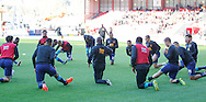 Hull City players before the Sky Bet Championship match at Ashton Gate, Bristol<br /> Picture by Mike Griffiths/Focus Images Ltd +44 7766 223933<br /> 21/11/2015