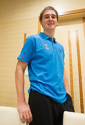 Sebastian Skube at training camp of Slovenian Handball National team before World Cup 2013 in Spain, on December 28, 2012 in Hotel Dobrava, Zrece, Slovenia. (Photo By Vid Ponikvar / Sportida.com)