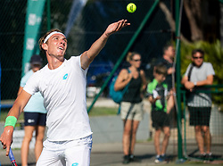 Lukas Klein of Slovakia playing Singles in 3rd Round of ATP Challenger Zavarovalnica Sava Slovenia Open 2019, day 7, on August 15, 2019 in Sports centre, Portoroz/Portorose, Slovenia. Photo by Vid Ponikvar / Sportida