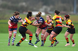 Amelia Buckland-Hurry of Bristol Bears Women tries to hold off Lageretabua of Richmond Women- Mandatory by-line: Nizaam Jones/JMP - 23/03/2019 - RUGBY - Shaftesbury Park - Bristol, England - Bristol Bears Women v Richmond Women- Tyrrells Premier 15s