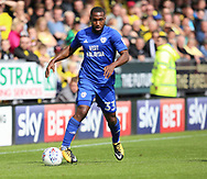 Junior Hoilett of Cardiff City during the Sky Bet Championship match at the Pirelli Stadium, Burton upon Trent<br /> Picture by Mike Griffiths/Focus Images Ltd +44 7766 223933<br /> 05/08/2017