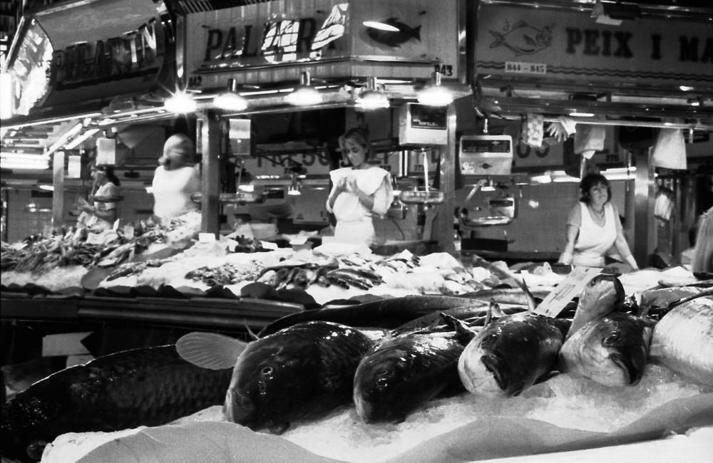 The Boqueria Market <br /> El Mercat de la Boqueria.<br /> (Barcelona, 2001).