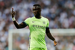 Bacary Sagna of Manchester City gestures - Mandatory byline: Rogan Thomson/JMP - 04/05/2016 - FOOTBALL - Santiago Bernabeu Stadium - Madrid, Spain - Real Madrid v Manchester City - UEFA Champions League Semi Finals: Second Leg.