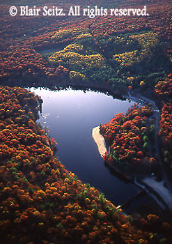 Southcentral Pennsylvania, Aerial Photographs, Cumberland County, PA, Pine Grove Furnace State Park, Fall Foliage