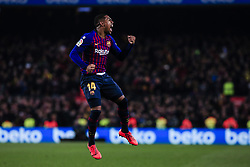 February 6, 2019 - Barcelona, Spain - 14 Malcom of FC Barcelona celebrating his goal during the semi-final first leg of Spanish King Cup / Copa del Rey football match between FC Barcelona and Real Madrid on 04 of February of 2019 at Camp Nou stadium in Barcelona, Spain  (Credit Image: © Xavier Bonilla/NurPhoto via ZUMA Press)