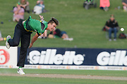 Central Stags Blair Tickner bowls during the Burger King Super Smash T20 cricket match between the Central Stags and the Northern Knights, McLean Park, Napier, Friday, January 25, 2019. Copyright photo: Kerry Marshall / www.photosport.nz