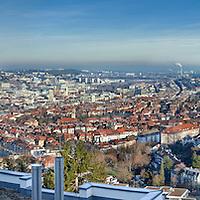 Stuttgart Panorama von der Wielandshöhe aus