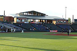 14 May 2016: Corn Crib Grandstands during a Frontier League Baseball game between the Joliet Slammers and the Normal CornBelters at Corn Crib Stadium on the campus of Heartland Community College in Normal Illinois