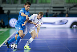 Sebastian Wojciechowski of Poland during futsal match between Poland and Kazakhstan at Day 3 of UEFA Futsal EURO 2018, on February 1, 2018 in Arena Stozice, Ljubljana, Slovenia. Photo by Urban Urbanc / Sportida