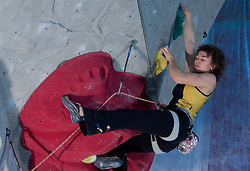 Climber Olga Shalagina (UKR) at World cup competition in Zlato polje, Kranj, Slovenia, on November 15, 2008.  (Photo by Vid Ponikvar / Sportida)