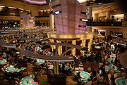 Interior of the US based Sands casino in Macau.<br />According to the Sands corporation, this is the largest casino floor in the world