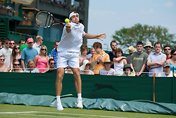 LONDON, ENGLAND - Thursday, June 25, 2009: Benjamin Becker (GER) during the Gentlemen's Singles 2nd Round match on day four of the Wimbledon Lawn Tennis Championships at the All England Lawn Tennis and Croquet Club. (Pic by David Rawcliffe/Propaganda)
