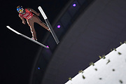 South Korea, PyeongChang - 2018 February 19: Maciej Kot from Poland soars through the air while Ski Jumping Men's Team Final during The 2018 PyeongChang Olympic Winter Games at Alpensia Ski Jumping Centre on February 19, 2018 in PyeongChang, South Korea.<br /> <br /> Mandatory credit:<br /> Photo by &copy; Adam Nurkiewicz<br /> <br /> Adam Nurkiewicz declares that he has no rights to the image of people at the photographs of his authorship.<br /> <br /> Picture also available in RAW (NEF) or TIFF format on special request.<br /> <br /> Any editorial, commercial or promotional use requires written permission from the author of image.