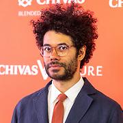 NLD/Amsterdam/20190509 -  Zoe Saldana bij finale van de Chivas Venture, Richard Ayoade