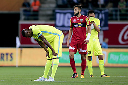July 27, 2017 - Gand, Belgique - GENT , BELGIUM - JULY 27 : Kalifa Coulibaly forward of KAA Gent looks dejected pictured during the first leg of the third qualifying round for the UEFA Europa League competition match between KAA Gent and Sc Rheindorf Altach on July 27, 2017 in Gent, Belgium. 27/07/2017 (Credit Image: © Panoramic via ZUMA Press)