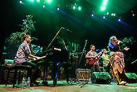 Nial Juliarso and Laura Brunner performing at Ubud Village Jazz Festival, 7/8/2015.